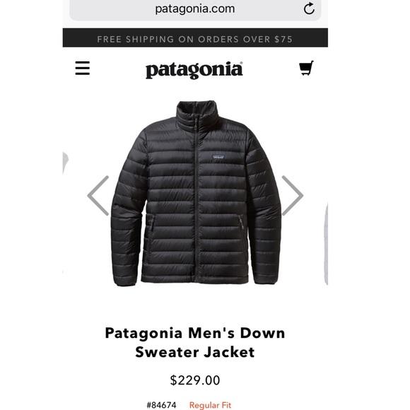 Patagonia Jackets Coats Mens Down Sweater Jacket Medium Poshmark